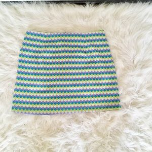 K2 Collection Multi Color Mini Skirt